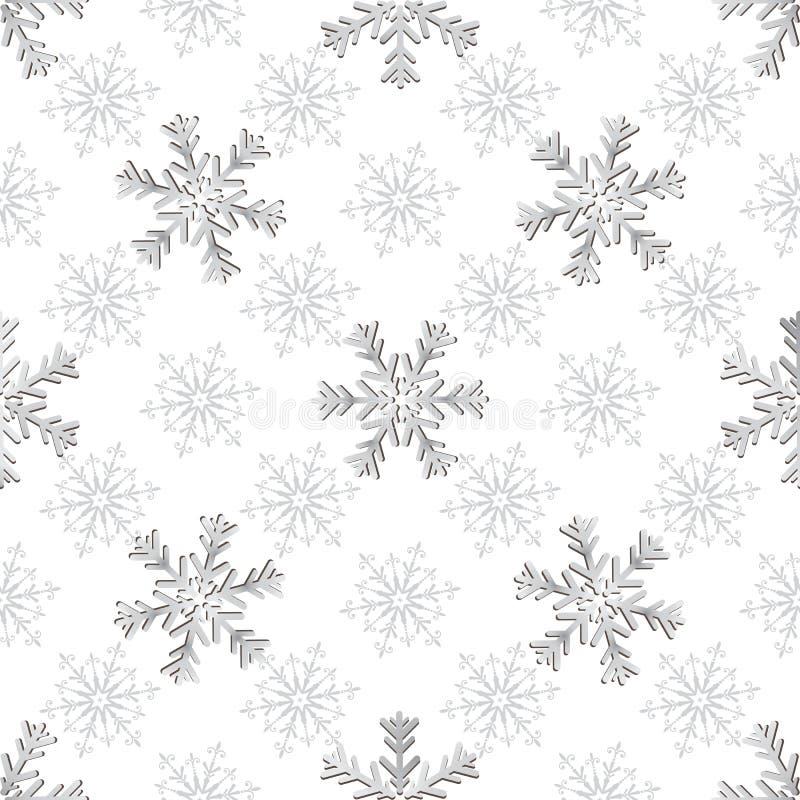 无缝的银色圣诞节样式 皇族释放例证
