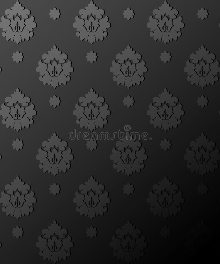 无缝的锦缎墙纸 向量例证