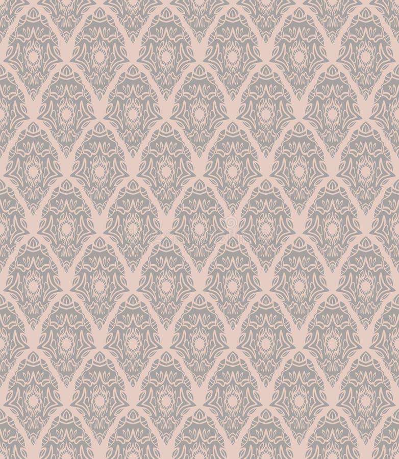 无缝的锦缎样式 向量例证