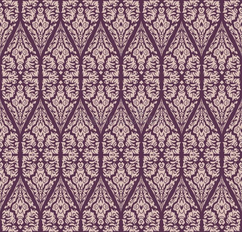 无缝的锦缎样式 库存例证