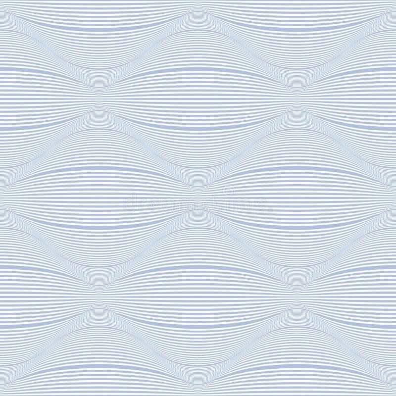 无缝的镶边3D样式 几何凸面线纹理 库存例证