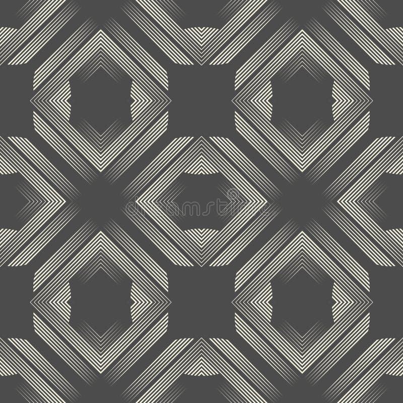 无缝的阿兹台克纹理 抽象不尽的梯度样式 皇族释放例证