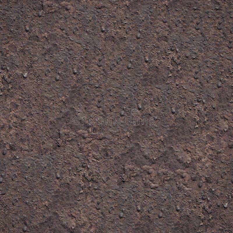 无缝的难看的东西金属生锈的铁背景 免版税库存照片