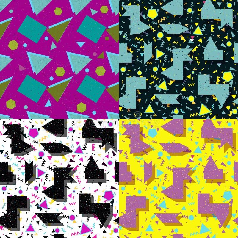 Download 无缝的集合背景几何形状 向量例证. 插画 包括有 长方形, 方式, 五颜六色, 冷静, 无缝, 设计, 乱画 - 62538288
