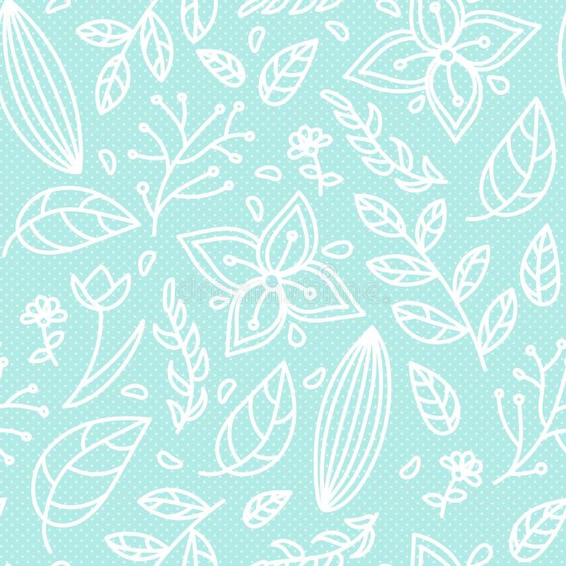 无缝的颜色花卉样式 库存例证