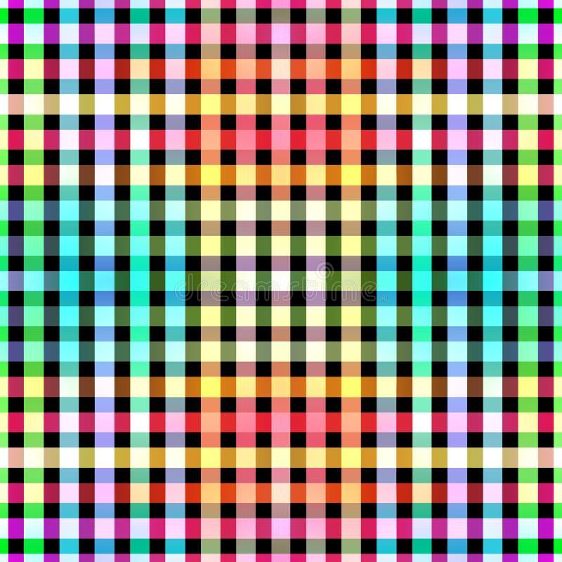 无缝的颜色阻拦网格图形背景 向量例证