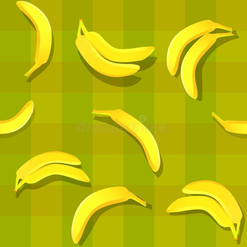 无缝的香蕉 向量例证