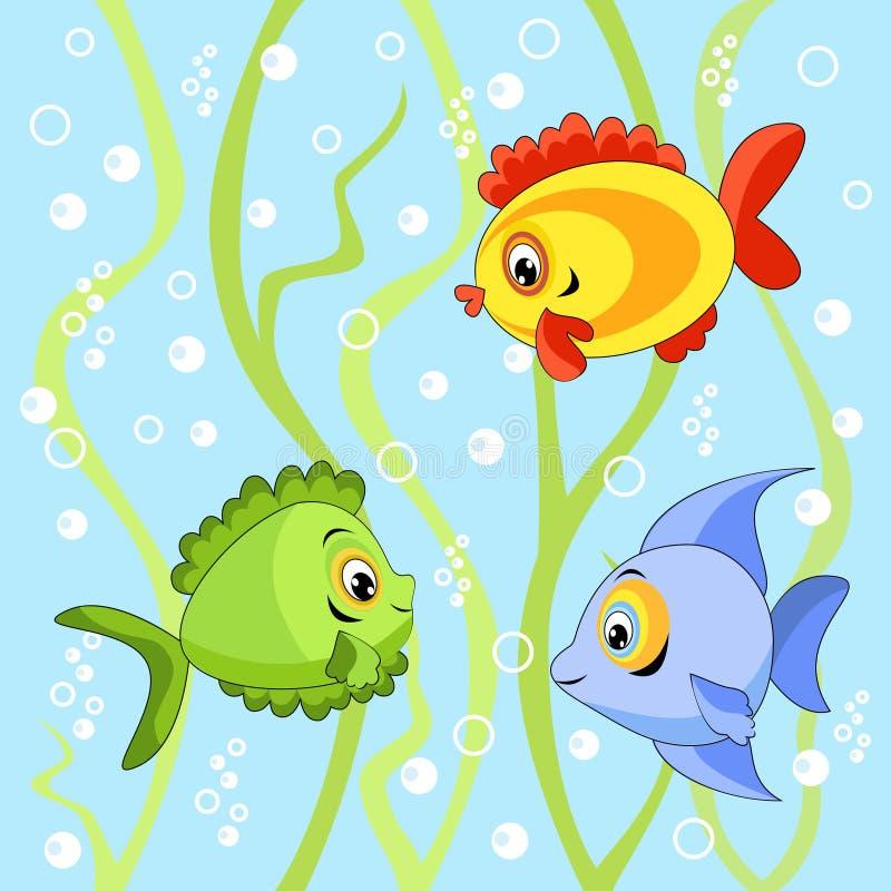 无缝的鱼 库存例证