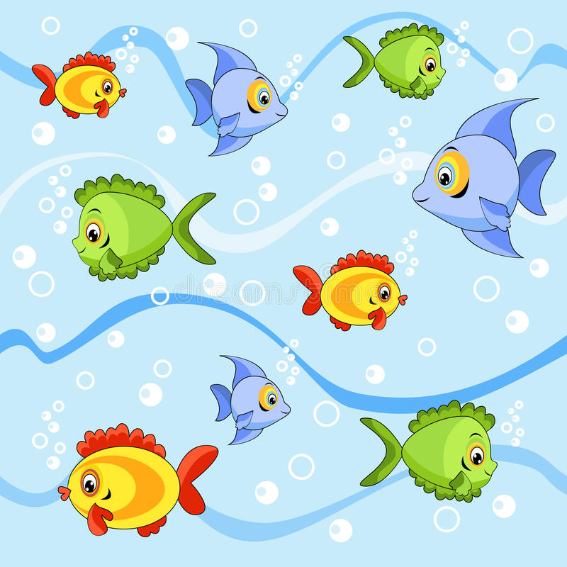 无缝的鱼 向量例证