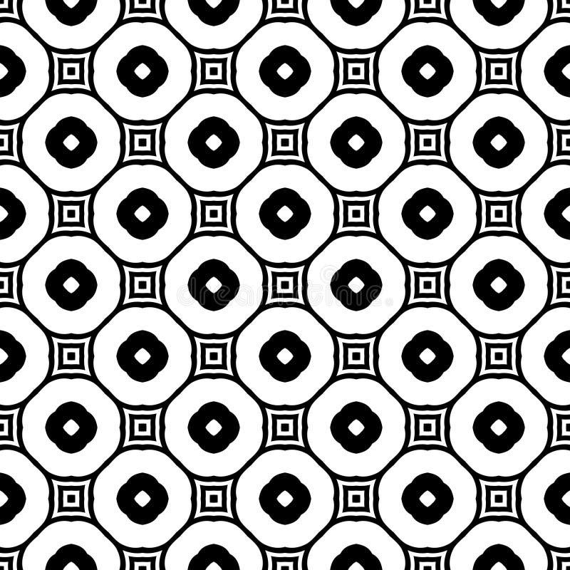 无缝的黑白几何样式 设计,艺术 皇族释放例证
