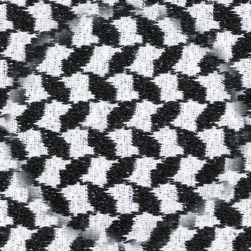无缝的黑白阿拉伯样式织品纺织品 背景,纹理 免版税图库摄影