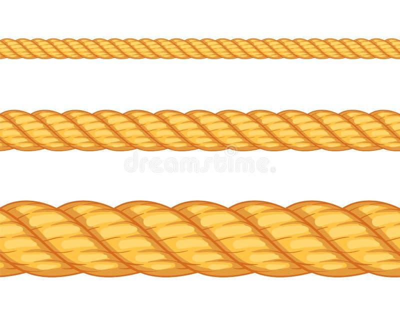 无缝的绳索 也corel凹道例证向量 皇族释放例证