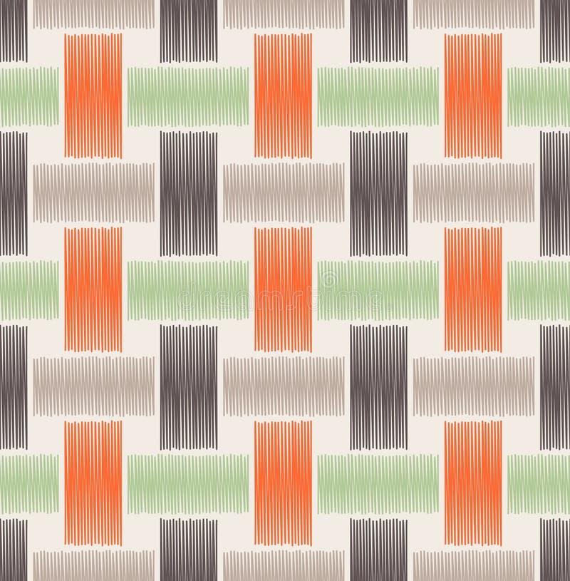 无缝的织法滤网样式 库存例证