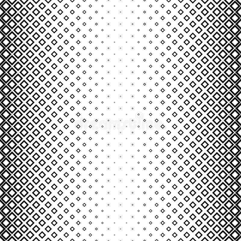 无缝的黑白方形的样式 库存例证