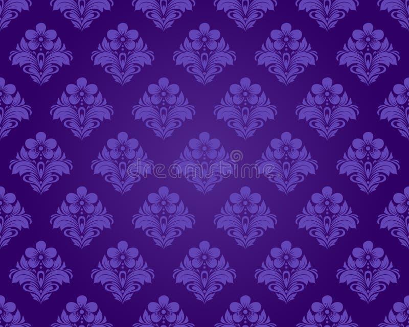 无缝的紫色模式 向量例证