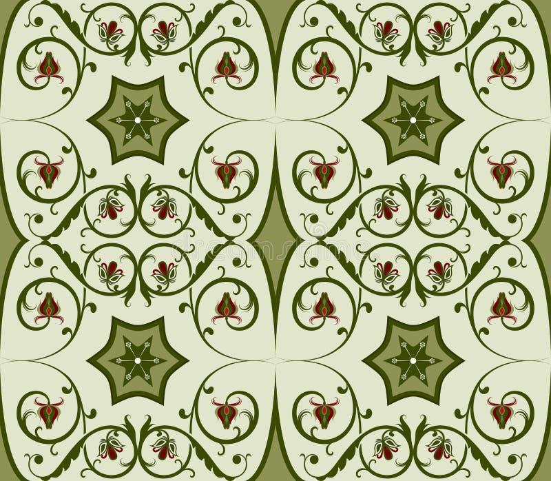 无缝的绿色模式 皇族释放例证