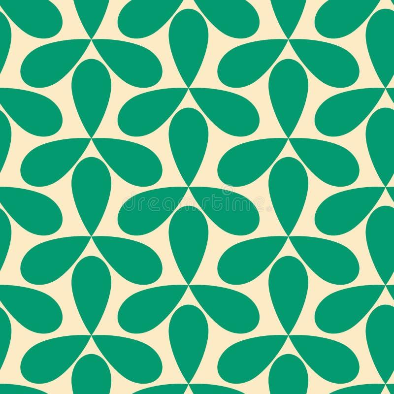 无缝的绿色螺旋几何样式 库存例证