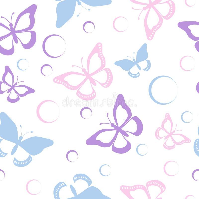 无缝的蝴蝶 向量例证