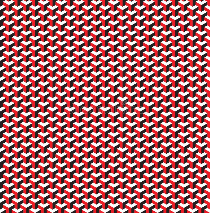 无缝的3d等量立方体样式背景纹理 向量例证