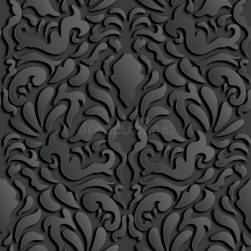 无缝的3D锦缎样式 皇族释放例证