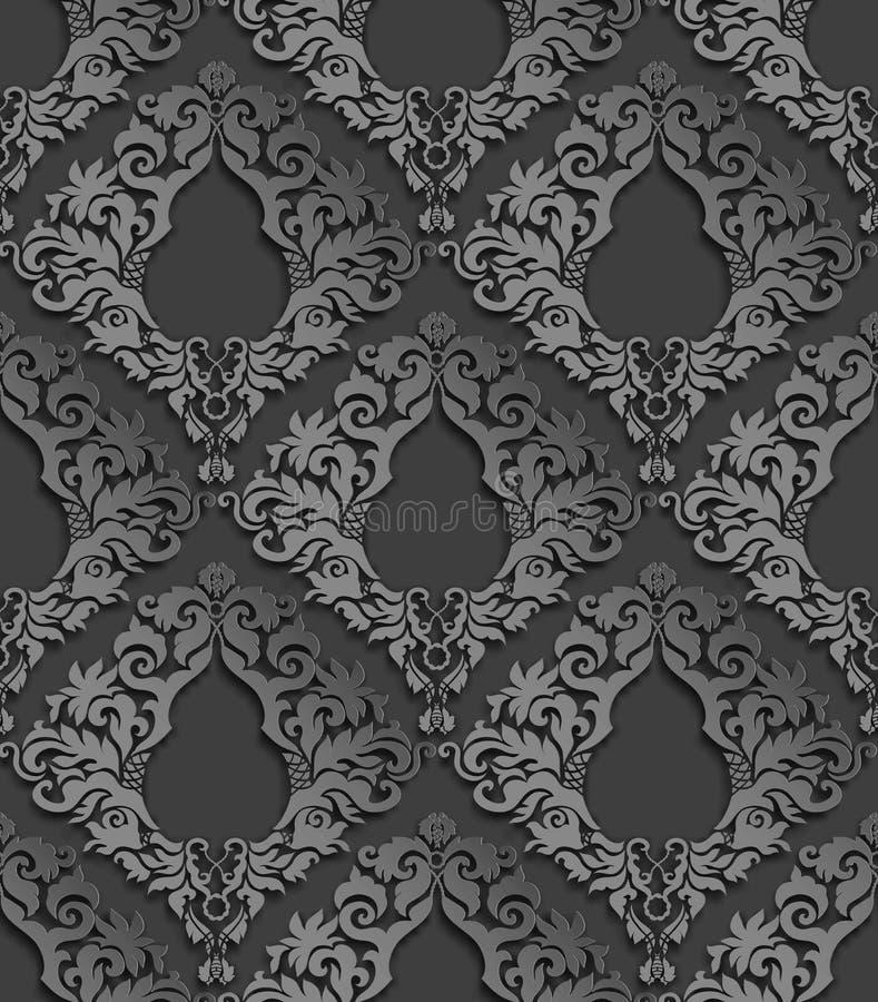 无缝的3D锦缎样式 向量例证