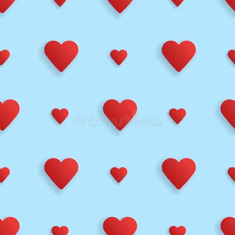无缝的realistick样式心脏 向量 向量例证