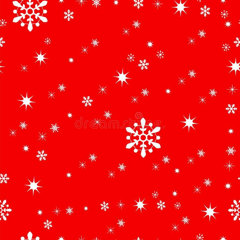 无缝的tileable圣诞节样式传染媒介 皇族释放例证