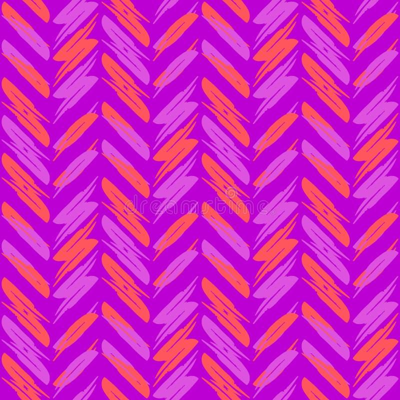 无缝的Z形图案,明亮的紫色洋红色之字形背景 现代重复的紫色洋红色背景,传染媒介 库存例证