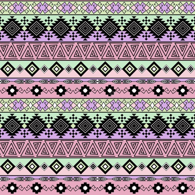 无缝种族的模式 与水平的条纹的背景 向量例证