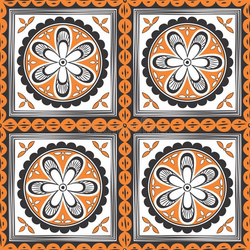 无缝种族的模式 织品的,纺织品装饰装饰品 库存例证