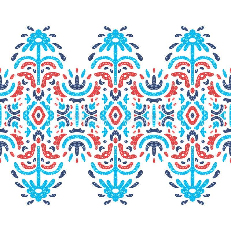 无缝种族的模式 在白色backgrou的蓝色和红色元素 皇族释放例证