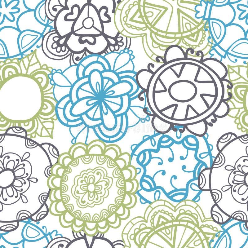 无缝种族的模式 时髦的花饰 向量例证