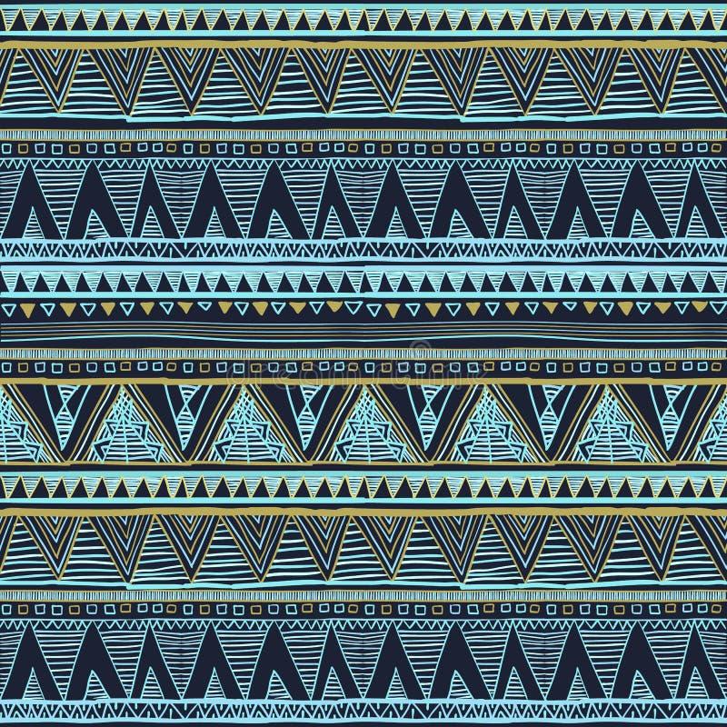 无缝种族的模式 部族艺术boho印刷品,边界装饰品 背景纹理,墙纸,包裹传染媒介种族无缝的bl 向量例证