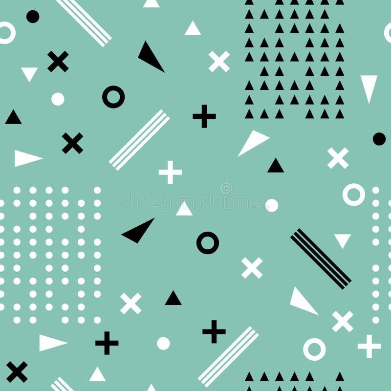 无缝种族的模式 阿兹台克抽象几何艺术印刷品 三 向量例证