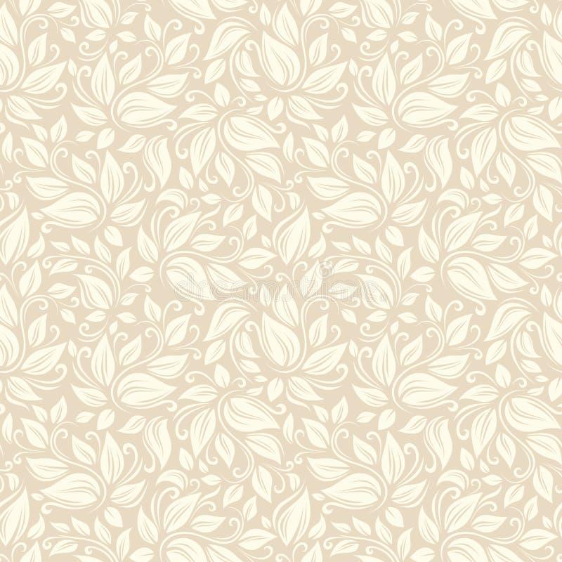 无缝米黄花卉的模式 也corel凹道例证向量 皇族释放例证