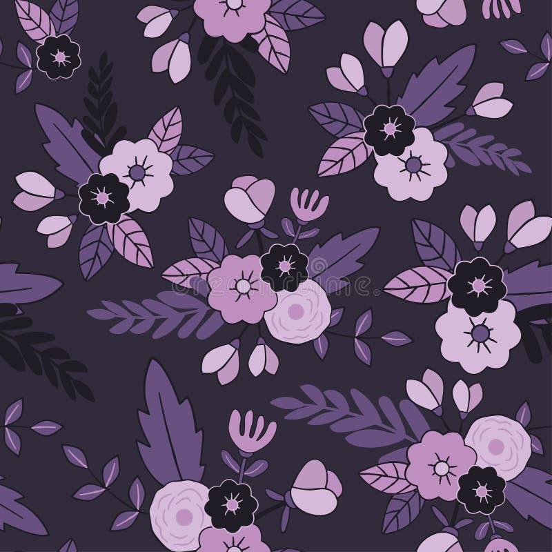 无缝美好的花卉的模式 为纺织品,包裹,网和所有装饰项目完善 向量例证