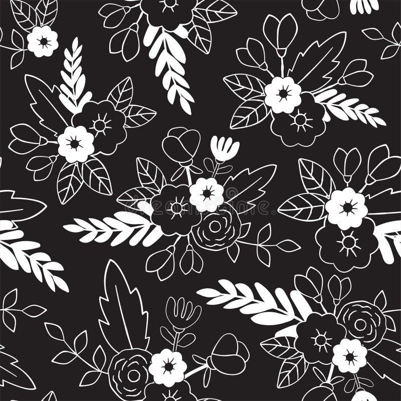 无缝美好的花卉的模式 为纺织品,包裹,网和所有装饰项目完善 皇族释放例证