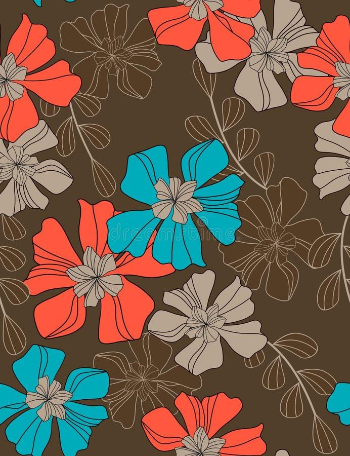 无缝美好的花卉的模式 向量例证