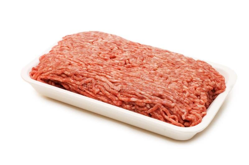 无缝肉剁碎的模式 库存图片