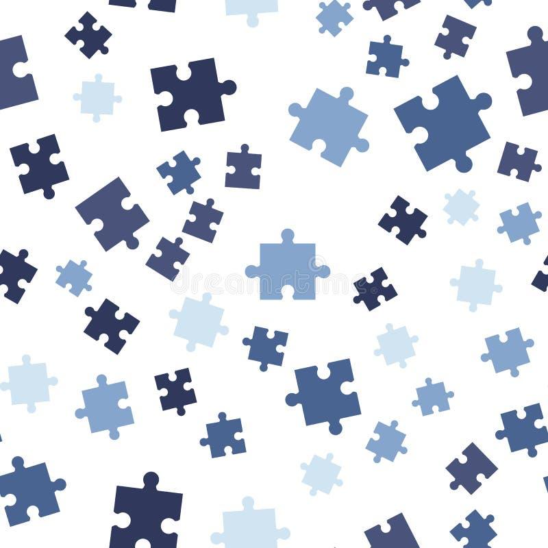 无缝背景五颜六色的模式的难题 在空白背景查出的向量例证 皇族释放例证