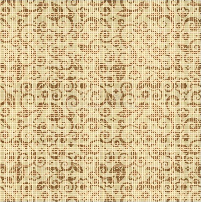 无缝背景画布的花卉图案 向量例证
