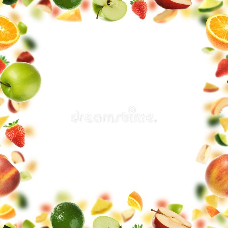 无缝背景的果子 免版税库存图片