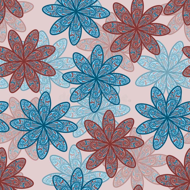 无缝背景的花 向量例证