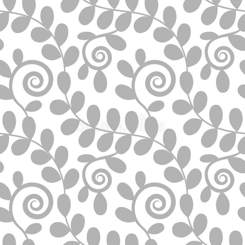 无缝花卉叶子的模式 库存例证