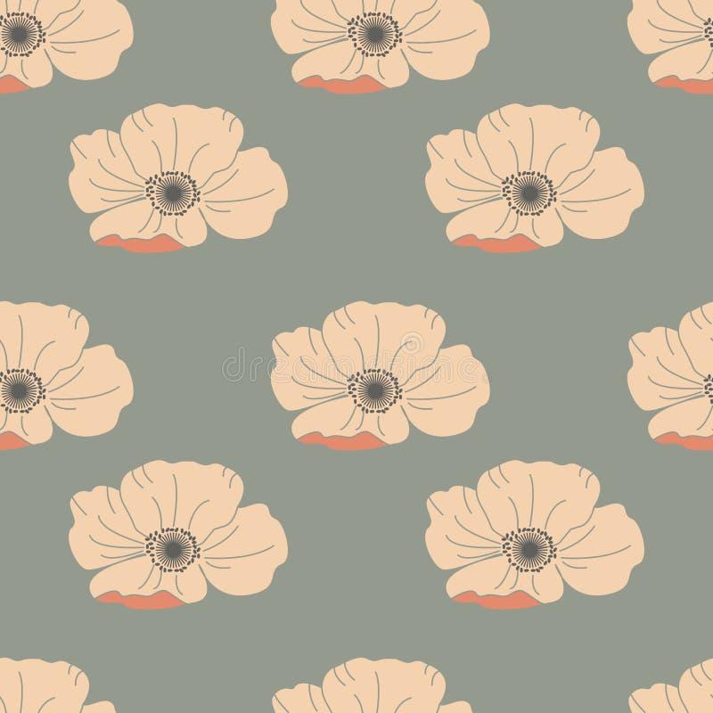 无缝花卉的模式 好为墙纸,样式积土,网页背景,表面纹理 库存例证