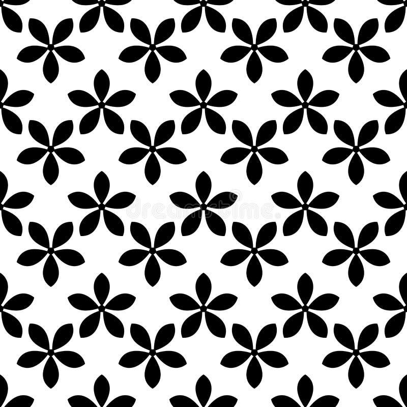 无缝花卉的模式 抽象背景 库存例证