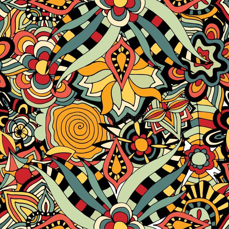 Download 无缝花卉的模式 向量例证. 插画 包括有 deco, 靠山, 本质, 背包, 例证, 五颜六色, 叶子, 装饰 - 59102667