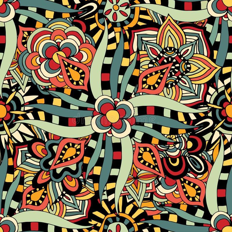 Download 无缝花卉的模式 向量例证. 插画 包括有 织品, deco, 艺术, 五颜六色, 装饰, 华丽, 庭院, 上色 - 59102862
