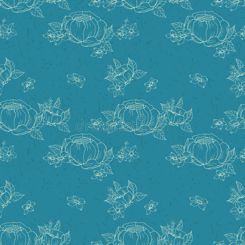 Download 无缝花卉的模式 向量例证. 插画 包括有 例证, 分级显示, 会开蓝色钟形花的草, 华丽, 卷毛, 减速火箭 - 62532084