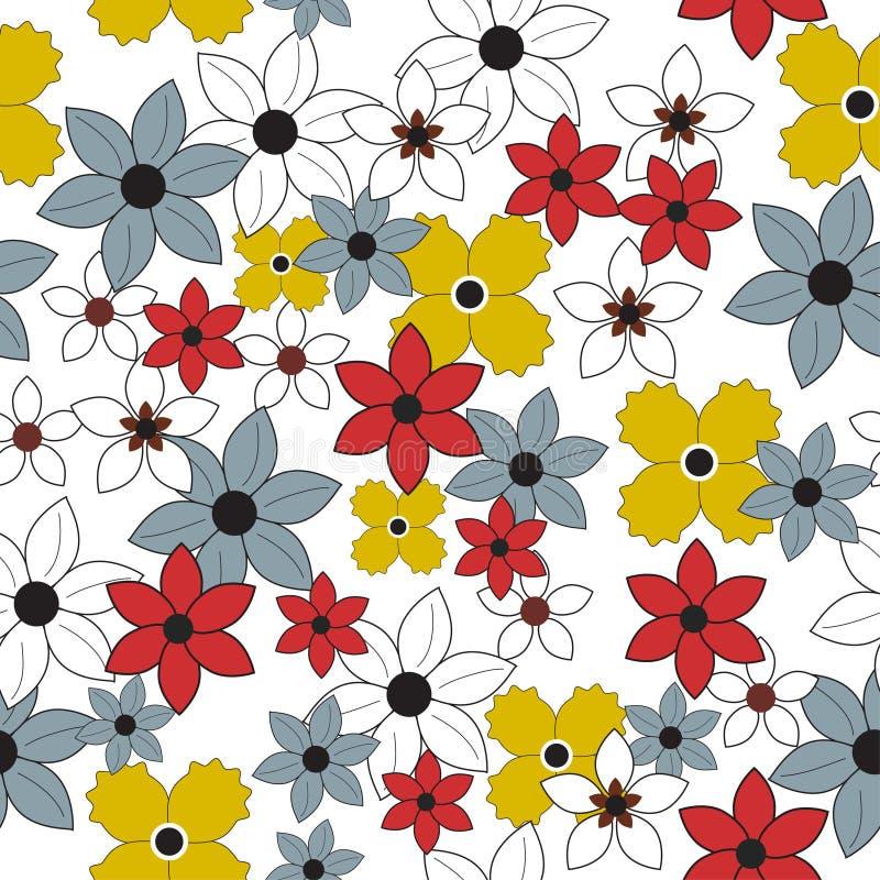 无缝花卉的花纹花样 向量例证